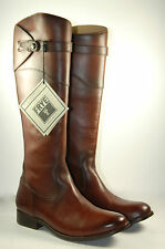 "FRYE "" Molly "" Button Tall Brown Leather Riding Boot Size 8 B   New ! MSRP $398"