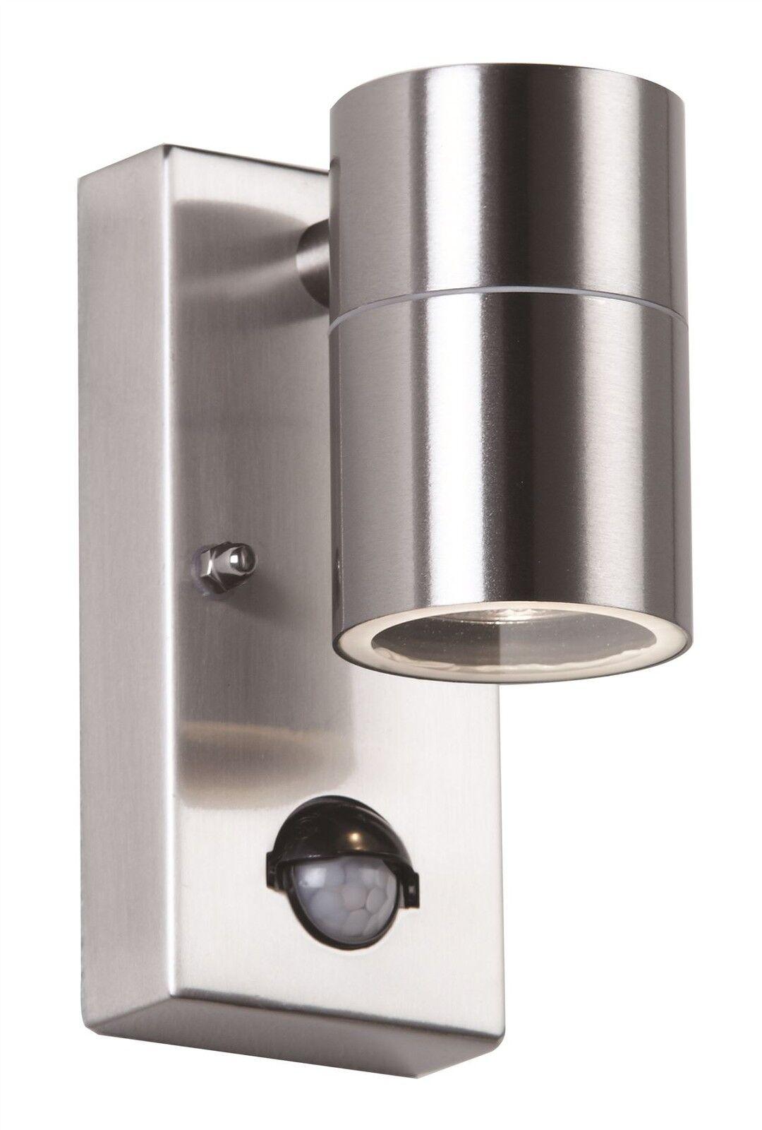 consegna veloce PIR da esterno esterno esterno Luce Parete-in acciaio INOX lucido, finitura in vetro trasparente  prezzi bassi di tutti i giorni
