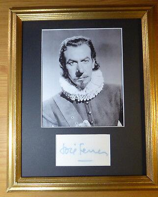 Have An Inquiring Mind Jose Ferrer 1950 Oscar Winner For Cyrano De Bergerac Autographed Signed W/coa Autographs-original