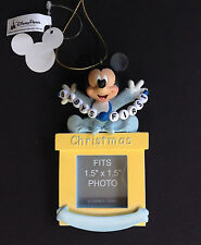 DISNEY PARKS Ornament BABY'S FIRST CHRISTMAS MICKEY MOUSE Boy PHOTO Frame NWT