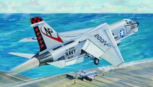 F-8j crusader fighter 1 32 plastic model kit trumpeter