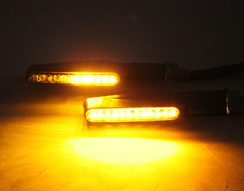 Motorcycle Turn Signals Indicator Light LED Blinker Scooter Chopper Cafe Racer A