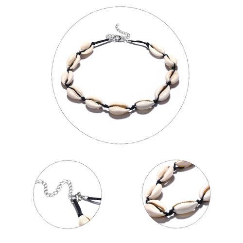 Boho Seashell Collar Choker Necklace Women Natural Bohemian Jewelry Adjustable H