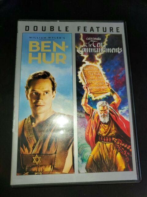 Ben-Hur missing ten commandments. Double Feature dvd Starring Charlton Heston