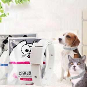 2PCS Adjustable Cat Dog Collar Flea Tick Prevention Pet Collar Pest Cont I-L~