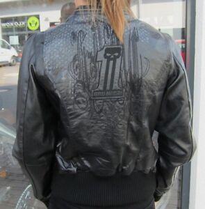 Damen davidson Harley Neu Ladies 12vw 972097 Lederjacke Jacke Motorrad Gr S HUqwdq