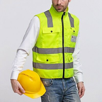 New Hi-Vis Work Vest Safety Reflective Waistcoat Unisex Working Uniform Workwear