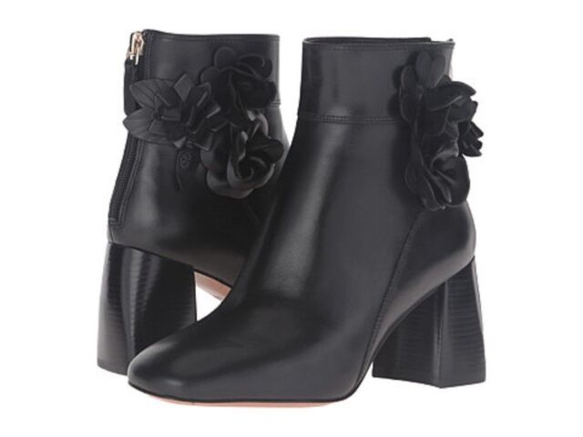 Tory Burch Blossom Bootie Black Size 9.5 New In Box