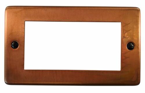 G/&h norme CTC164 plaque ternie cuivre 2 Gang 4 Euro Module plaque