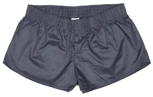 Gray-Shiny-Short-Nylon-Shorts-by-Soffe-Size-XL