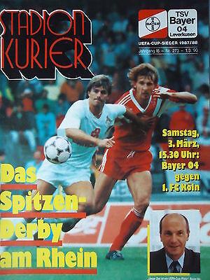 FC Köln Bayer 04 Leverkusen BL 89//90 1