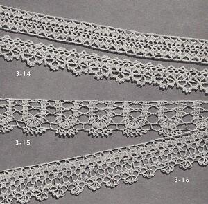 Vintage Crochet Pattern To Make 3 Fine Lace Edging Designs Bands