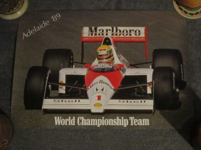 Ayrton Senna/Mclaren -  Adelaide Australian Grand Prix Poster & Stickers