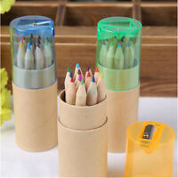 12 Color Pencil Colored Drawing Set For Kids Amateurish With Pencil sharpener S4