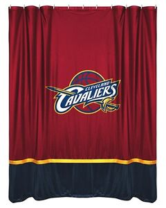 Cleveland-Cavaliers-Jersey-Mesh-Fabric-Shower-Curtain