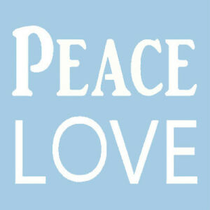 Image Is Loading Peace Love Stencil Word Words Craft Stencils Template