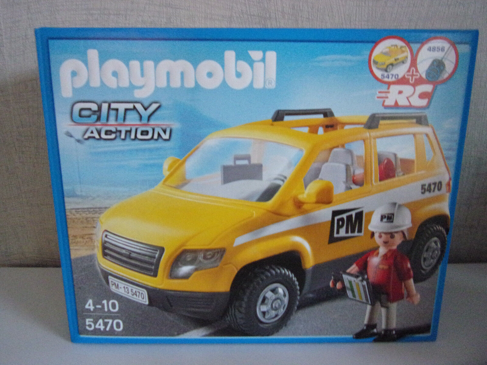 Playmobil City Action 5470 Construction Supervisor Vehicle - - - Nip 23791c