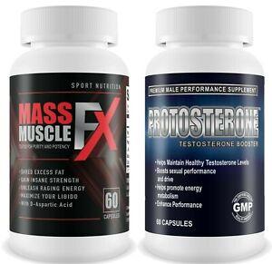 Masse-Muskel-FX-amp-protosterone-Gym-amp-Testosteron-Supplement-Bodybuilding-Muskel
