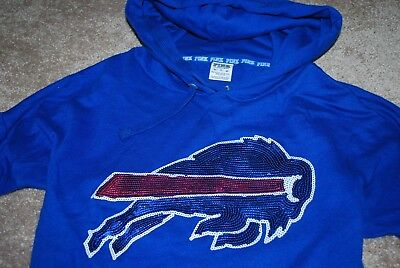 c7f2c416 PINK by Victoria's Secret Buffalo Bills NFL VS Sequin Bling Hoodie  (X-Small) | eBay
