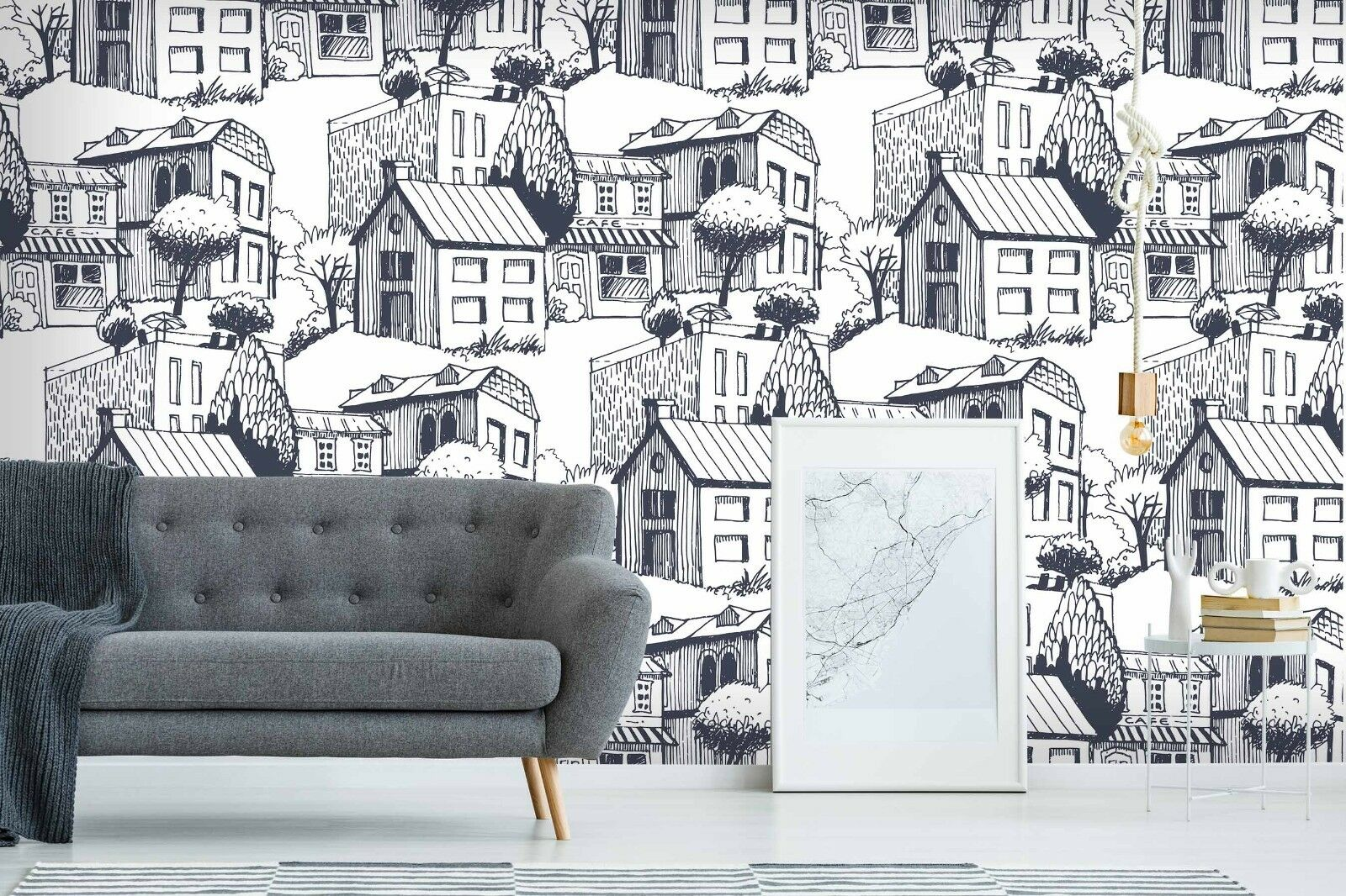 3D City House 753 Wall Paper Print Wall Decal Deco Indoor Wall Murals US Summer