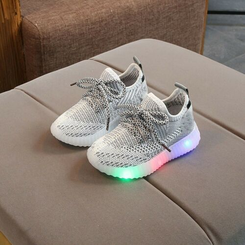 Kids Boys Girls Toddler LED Light Up Shoes Breathable Luminous Sneakers Shoes