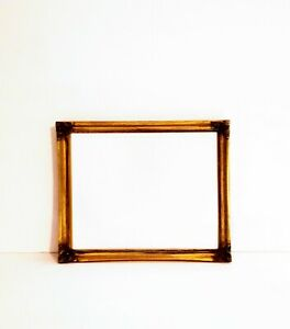 """Victorian Ornate Gold Gilt Vintage Picture Photo Frame with Stand 11"""" x 9"""""""