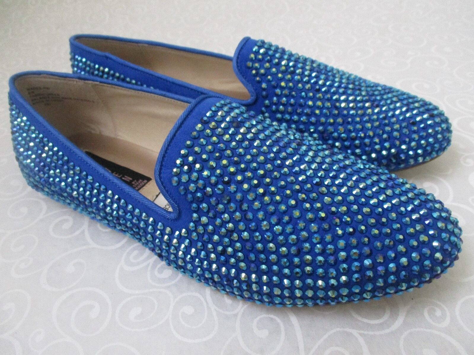 99 STEVEN BY STEVE MADDEN Blau RHINESTONE FLATS Schuhe SIZE 7 1/2 M - NEU