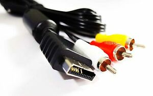PLAYSTATION-1-PS-PSONE-PS1-COMPOSITE-AV-RCA-AUDIO-VIDEO-CABLE-LEAD-UK-Seller
