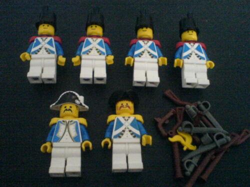 6276-6274 Rotröcke Lego 6 Blauröcke Admiral Piraten