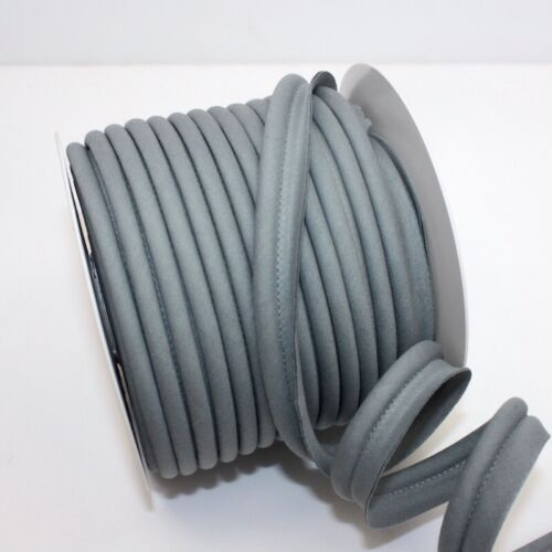 Mid Grey 10 Upholstery Flanged Insertion Tri Jumbo Bias Piping Plain Large