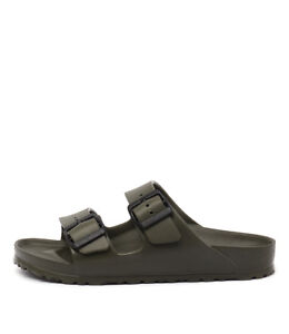 New-Birkenstock-Arizona-Eva-Khaki-Womens-Shoes-Casual-Sandals-Sandals-Flat