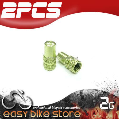 BIKE MTB ROAD Aluminum Presta Inner Tube Valve Cap Anodized Machined GREEN