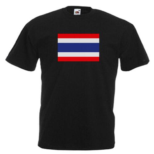 Drapeau Thaïlande Adultes Homme T shirt 12 Couleurs Taille S 3XL