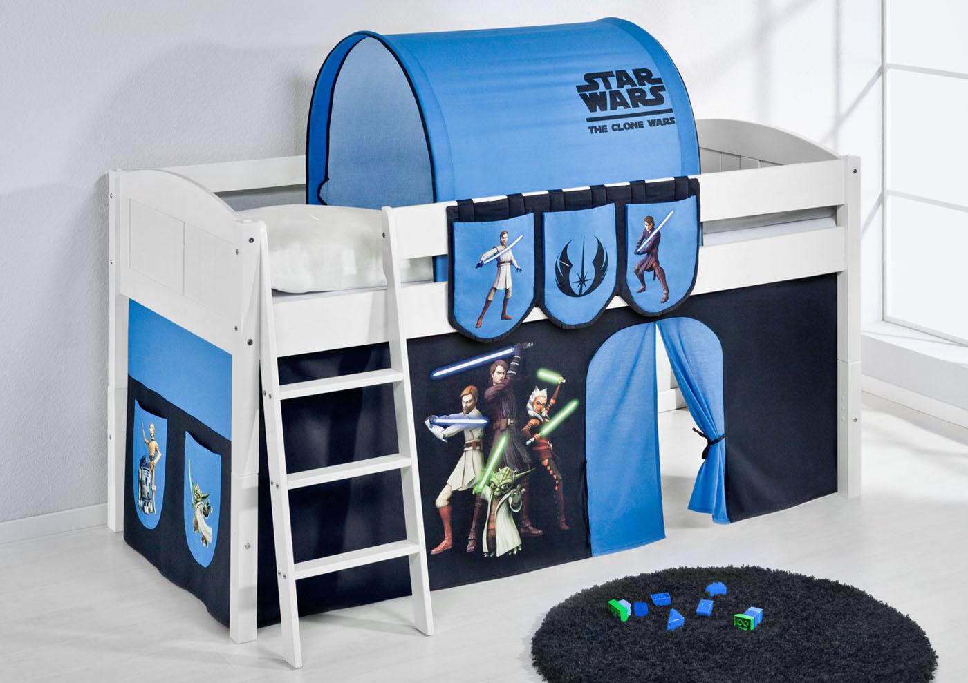 Spielbett surelevé lit bébé modulable au prolétaire 4106 LILOKIDS star wars