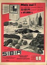 E- Publicité Advertising 1958 Le Refrigerateur SIBIR
