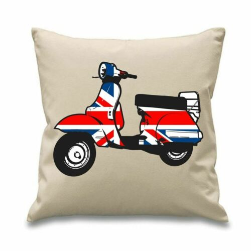 """Mods The Who Jam Weller Mod Scooter 18/"""" x 18/"""" Filled Sofa Throw Cushion"""
