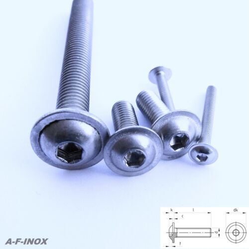 bride m5 bundschrauben 10x vis en acier inoxydable va ISO 7380-2 ISK