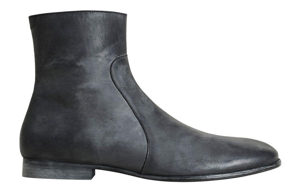 MAISON MARTIN MARGIELA For H&M Mens Leather Chelsea botas zapatos
