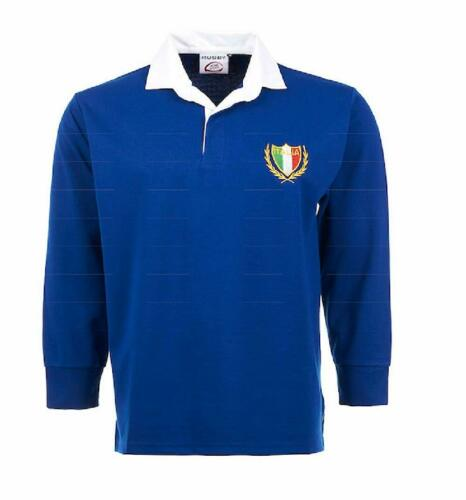 ITALY ITALIAN BABY KIDS CHILDS RUGBY SHIRT FULL SLEEVE ALL SIZES EMBROIDED NEW !