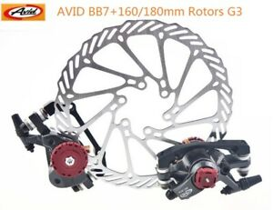 New Avid BB7 Mountain MTN Disc Brake Calipers+G3 rotors 160mm Front and Rear