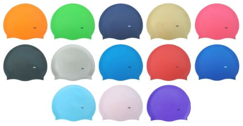 CHEX Silicone Gold Pink Neon Silver Purple Pearly 8 Years Swimming Swim Hat Cap