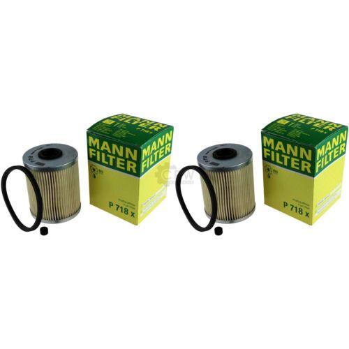 2x Original MANN-FILTER Kraftstofffilter P 718 x Fuel Filter
