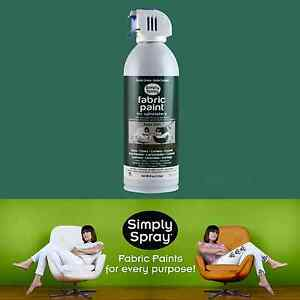 simply spray upholstery fabric paint 6 cans hunter green lounge chair car seat. Black Bedroom Furniture Sets. Home Design Ideas