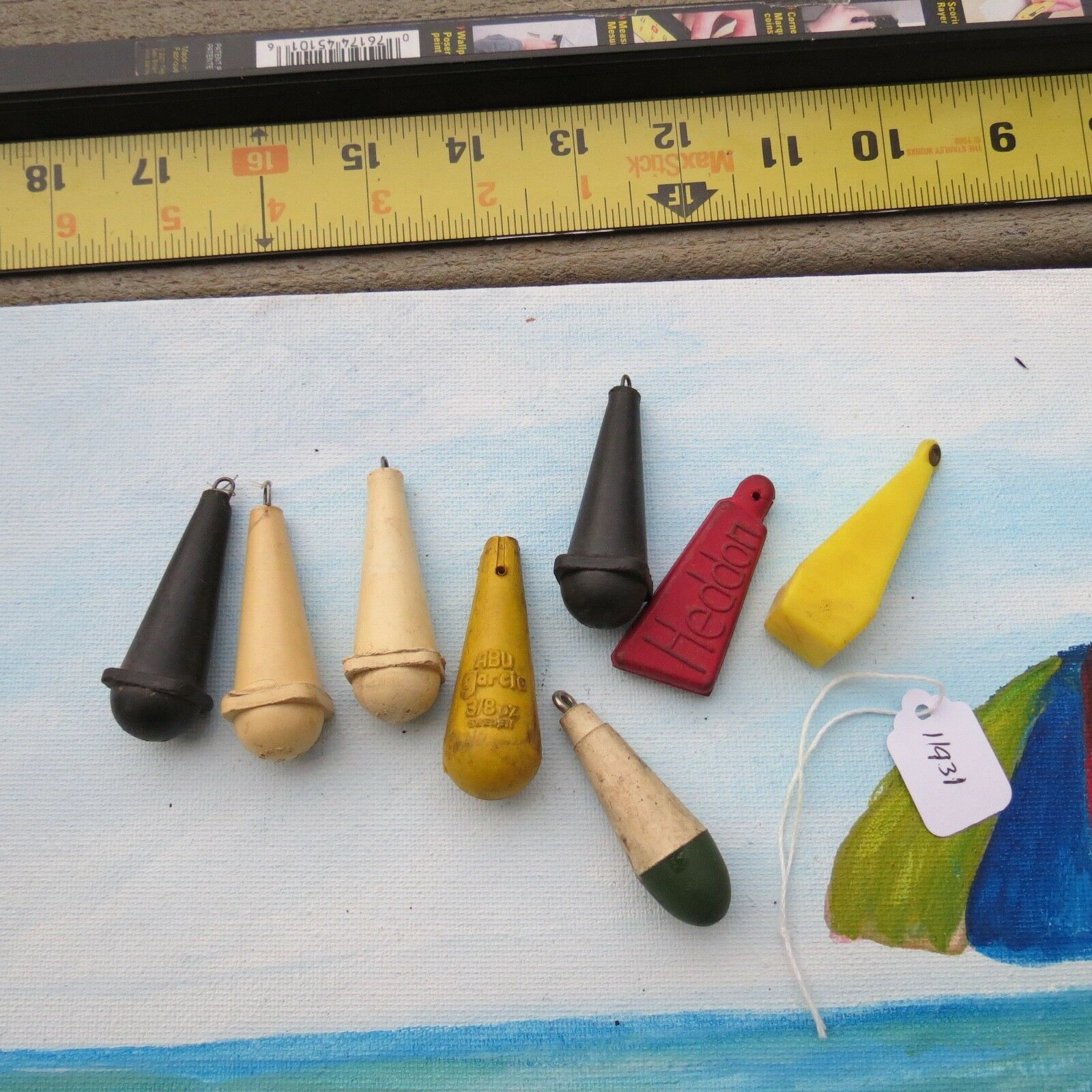 Vintage Heddon, South Bend, Abu  and other fish lure practice plugs (lot)