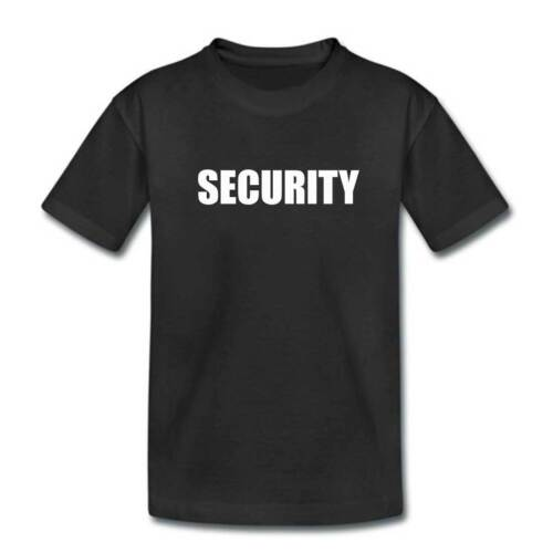 Kids Security Tshirt Childrens SECURITY Tshirt Police Fancy Dress Clothing