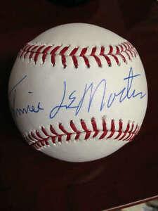 Johnnie LeMaster Autographed ROMLB Baseball