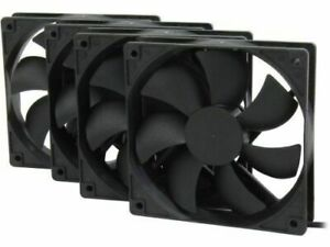 Rosewill ROCF-13001 120mm Case Fan, Black - 4 Pack