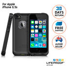 Genuine Lifeproof Frē Dust Shock Waterproof Case Cover for iPhone SE 5 5s BLACK