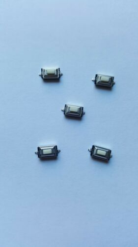 Five 3mm x 6mm x 2.5mm Tactile Push Button Micro Switches
