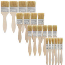 "US Art Supply Chip Brushes Paint  Adhesives Touchups 20pc - 0.5"", 1"", 1 1/2"", 2"""